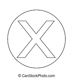 Cancel cross icon