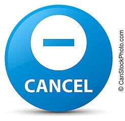 Cancel cyan blue round button