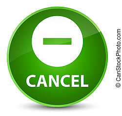 Cancel elegant green round button