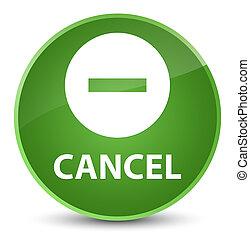 Cancel elegant soft green round button