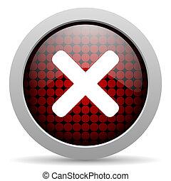 cancel glossy icon