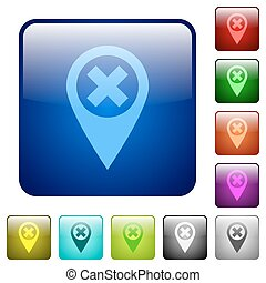 Cancel GPS map location color square buttons