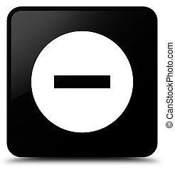 Cancel icon black square button