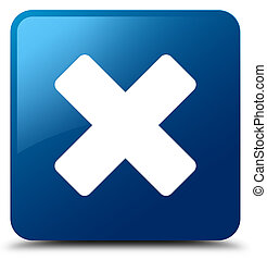 Cancel icon blue square button