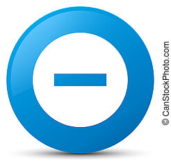 Cancel icon cyan blue round button