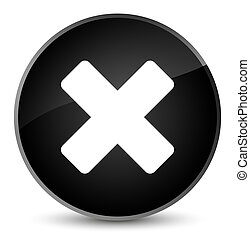 Cancel icon elegant black round button