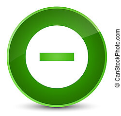 Cancel icon elegant green round button