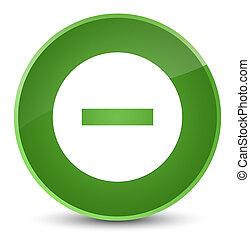 Cancel icon elegant soft green round button