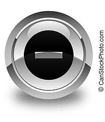 Cancel icon glossy white round button