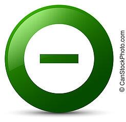 Cancel icon green round button