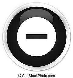 Cancel icon premium black round button