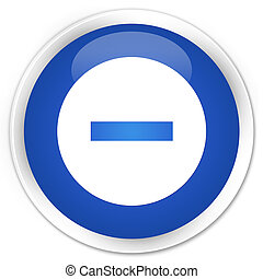 Cancel icon premium blue round button