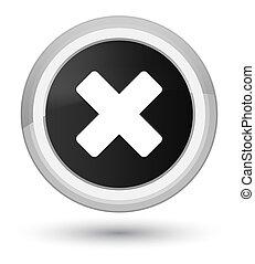 Cancel icon prime black round button