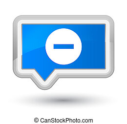 Cancel icon prime cyan blue banner button