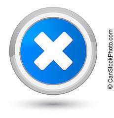 Cancel icon prime cyan blue round button