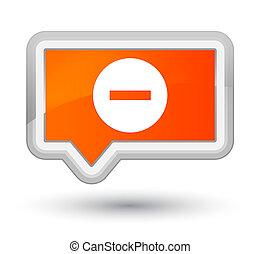 Cancel icon prime orange banner button