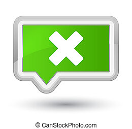 Cancel icon prime soft green banner button