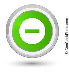 Cancel icon prime soft green round button