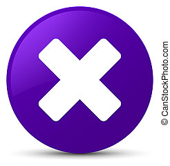 Cancel icon purple round button