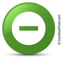 Cancel icon soft green round button