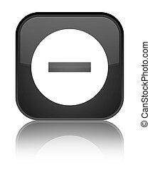 Cancel icon special black square button
