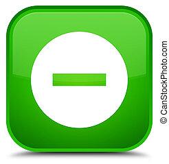 Cancel icon special green square button