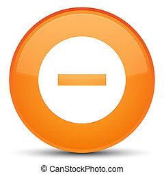Cancel icon special orange round button