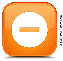 Cancel icon special orange square button