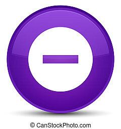 Cancel icon special purple round button