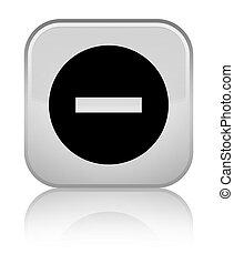 Cancel icon special white square button