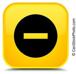 Cancel icon special yellow square button