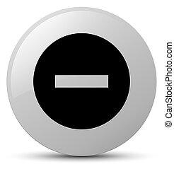 Cancel icon white round button