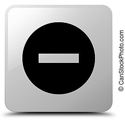 Cancel icon white square button