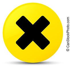 Cancel icon yellow round button