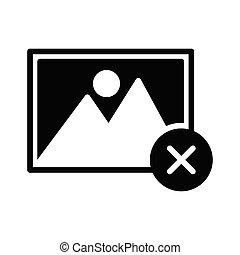 cancel photo glyph flat vector icon