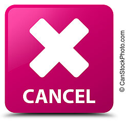 Cancel pink square button