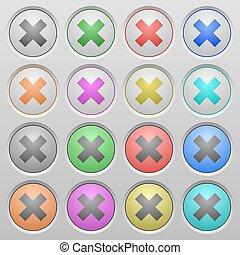 Cancel plastic sunk buttons