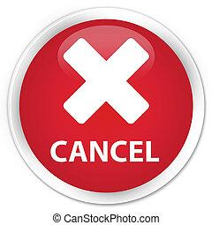 Cancel premium red round button