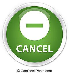 Cancel premium soft green round button