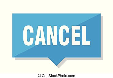 cancel price tag - cancel blue square price tag