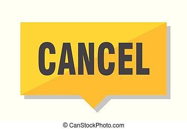 cancel price tag - cancel yellow square price tag