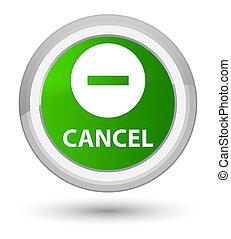 Cancel prime green round button