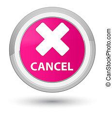 Cancel prime pink round button