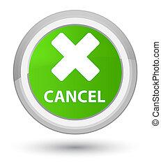 Cancel prime soft green round button