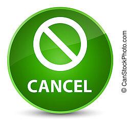 Cancel (prohibition sign icon) elegant green round button