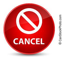 Cancel (prohibition sign icon) elegant red round button