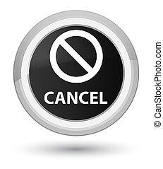 Cancel (prohibition sign icon) prime black round button
