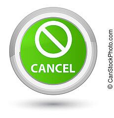 Cancel (prohibition sign icon) prime soft green round button