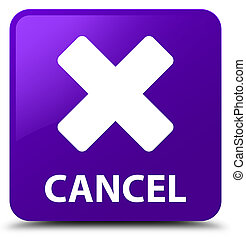 Cancel purple square button
