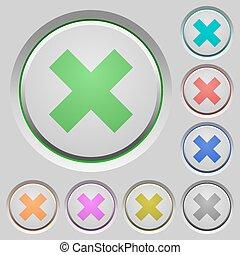 Cancel push buttons